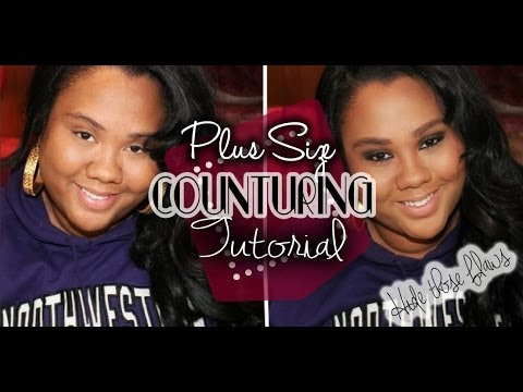 new-plus-size-face-contouring-|-hide-that-double-chin!