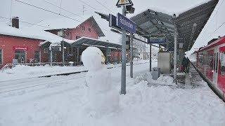Update zum Schneechaos in Bayern............