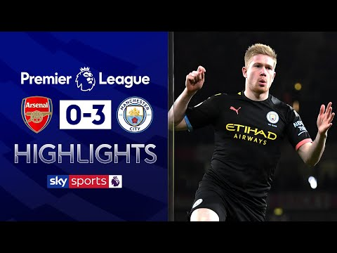 De Bruyne masterclass in brilliant City win | Arsenal 0-3 Man City | Premier League Highlights