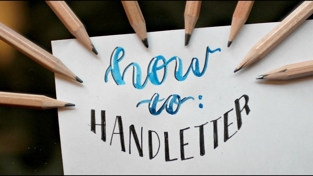 Hand Lettering Tutorial How To Create Different Fonts