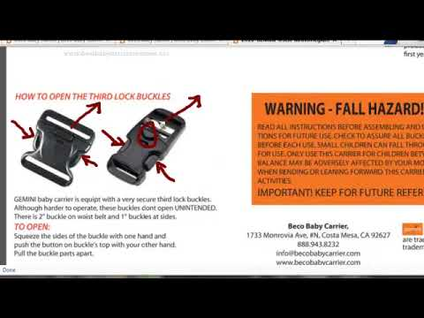 Beco Gemini Baby Carrier Overview Youtube