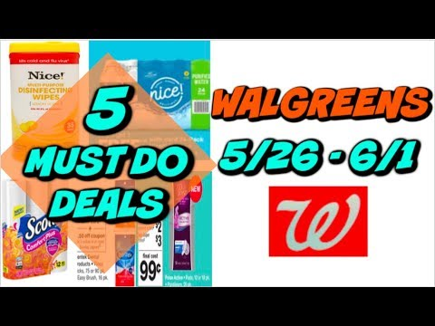 5 MUST DO WALGREENS DEALS 5/26 - 6/1 | CHEAP PAPER PRODUCTS, WATER & MORE!