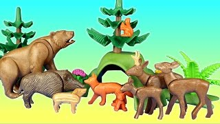 Playmobil woodland forest wild animals building toy set build review