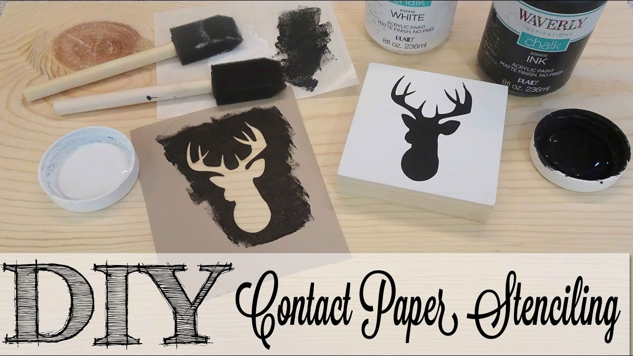Diy Creating Contact Paper Stencils Full Tutorial Youtube