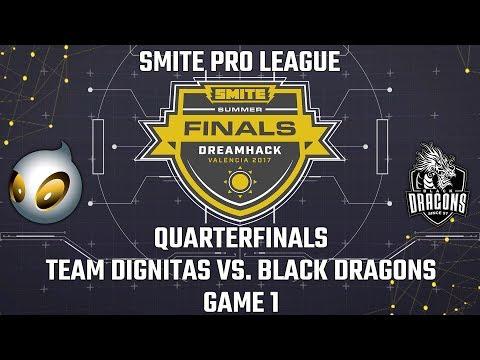 SMITE Pro League Summer Finals 2017: Quarterfinals - Team Dignitas vs. Black Dragons (Game 1)