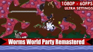 Worms World Party Remastered gameplay PC HD [1080p/60fps]
