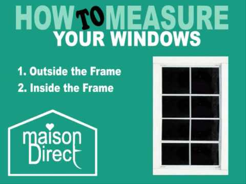 Measuring Guide - How To Measure You Window For Blinds