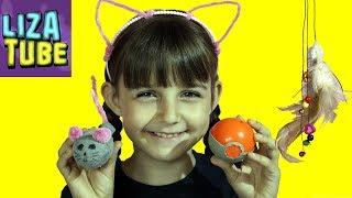 Как сделать 3 игрушки ДЛЯ КОТА своими руками Toys for Cats LizaTube