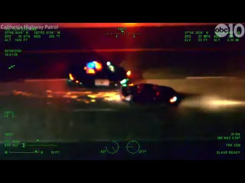 CHP helicopter captures wild police chase in Bay Area | RAW