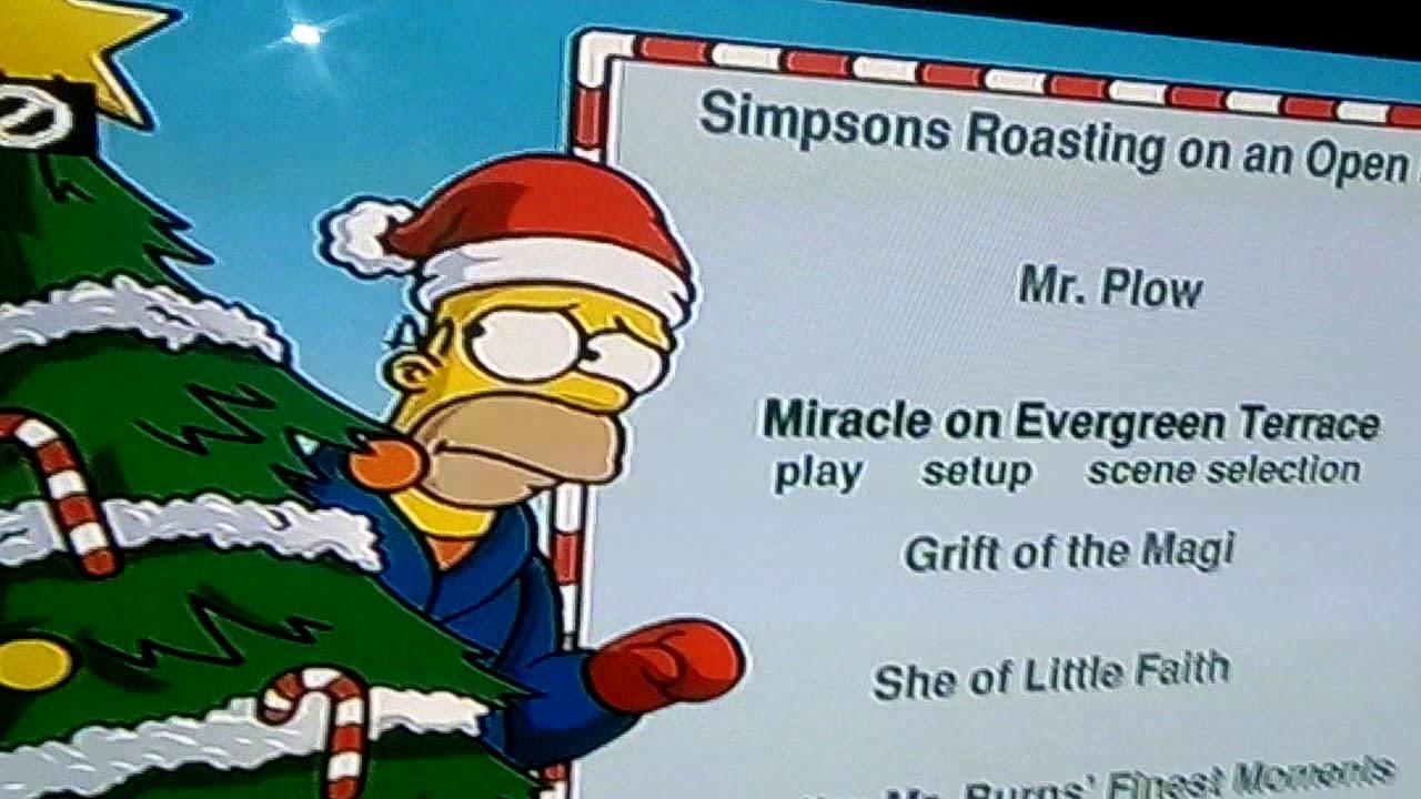 The Simpsons Christmas Dvd.The Simpsons Christmas Vol 1 Dvd Menu Merry Christmas