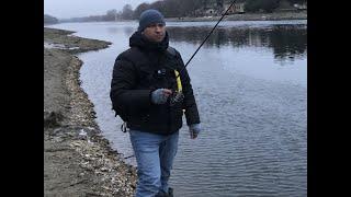 Рыбалка на спиннинг на нижней Москве реке в январе 2020