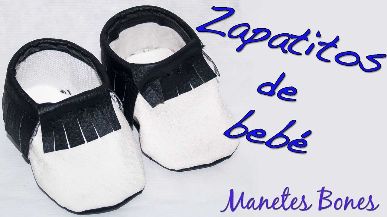 Zapatitos de bebé con patrón | Tutorial DIY - YouTube