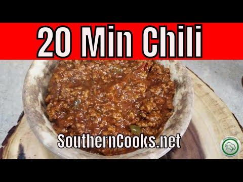 Homemade Chili Recipe - 20 Minute Chili - No Beans