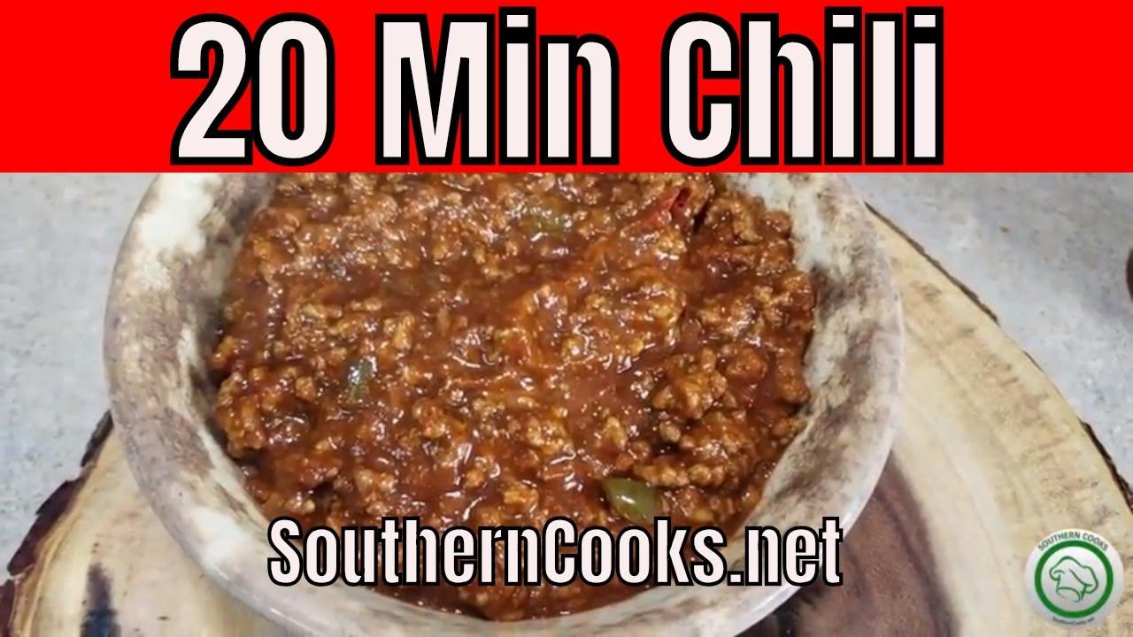 Homemade Chili Recipe - 20 Minute Chili