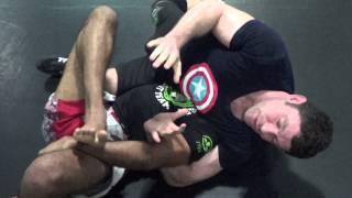 Jiu jitsu Rolling Lockdown Half Guard 2 Wolfman vs Fighter Dave Japanese Necktie, Magic Toe Hold,Kne