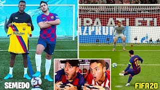 Penaltis VIDA REAL vs FIFA 20 (Jugador del Barcelona & Pro Player)