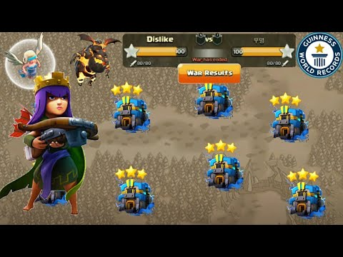 Huge Clan War Record Queen Walk With LavaLoonion Awesome 3star TH12 Bases   Clash Of Clans