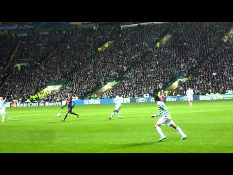 """Zombie Nation"" chant, by the Green Brigade & Messi stopped (7/11/2012) HD"