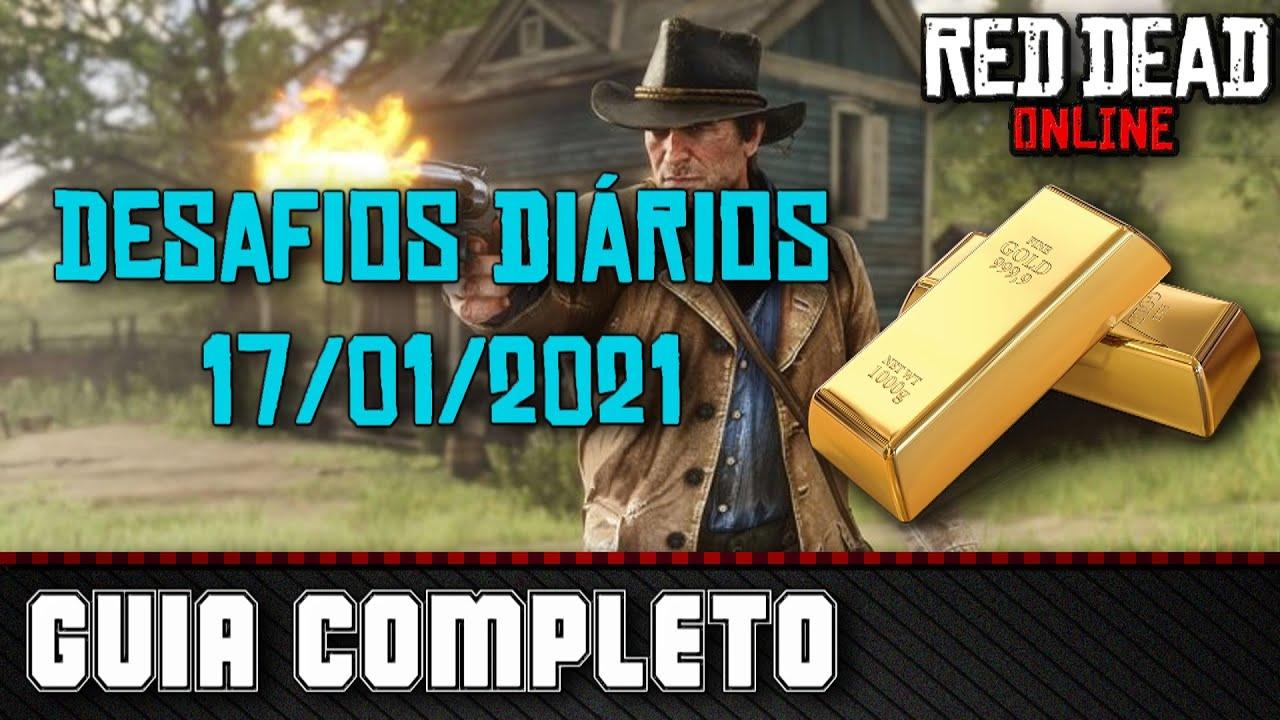 Desafios Diários - Red Dead Online 17/01/2021