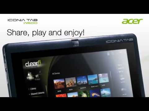 Acer ICONIA Tab W500 Windows 7 AMD Hybrid Tablet Notebook