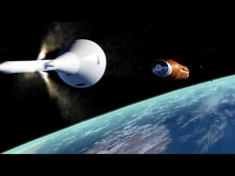 NASA's Space Launch System, First Flight Mission 1 animation