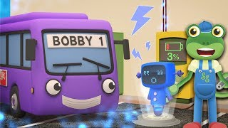 Bobby The Bus Goes ELECTRIC | Gecko's Garage | Trucks For Children | Educational Videos For Kids