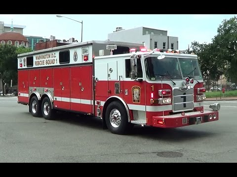 DCFD Rescue Squad 1 & Engine 2 responding [Washington D.C. | 7/20/2013]