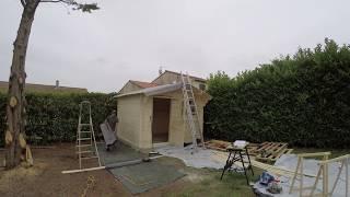 Construction d'une cabane. timelapse vidéo (Gopro4 silver)