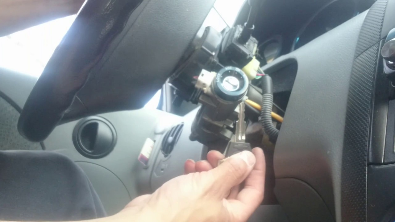 How To Replace Ignition Cylinder Key For Chevy Aveo 2005 Youtube