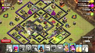 Clash of Clans -- Live Attack #1 - GoHo on The General base design | CoC