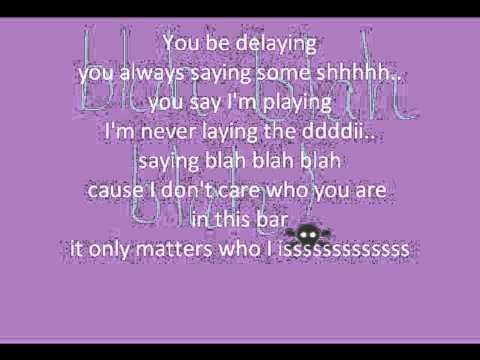 Blah Blah Blah-Ke$ha (Lyrics)