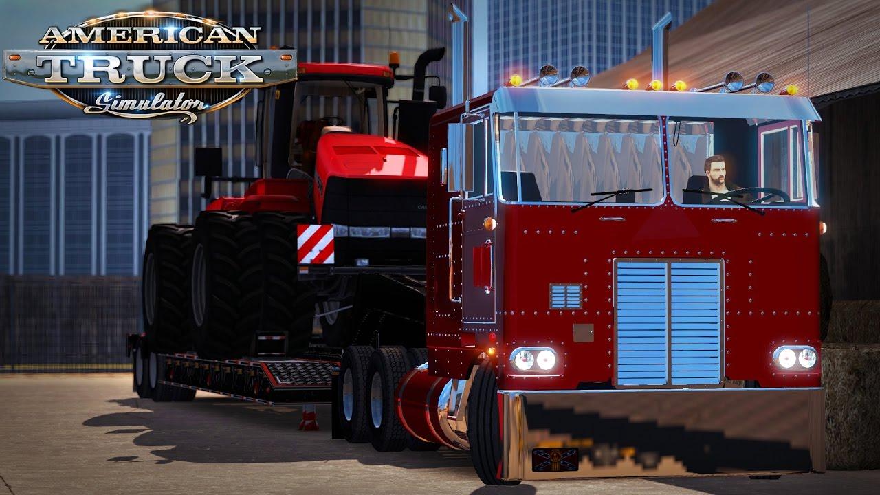American Truck Simulator: Peterbilt 352 pulling Case IH Steiger - Baltimore  to Philadelphia