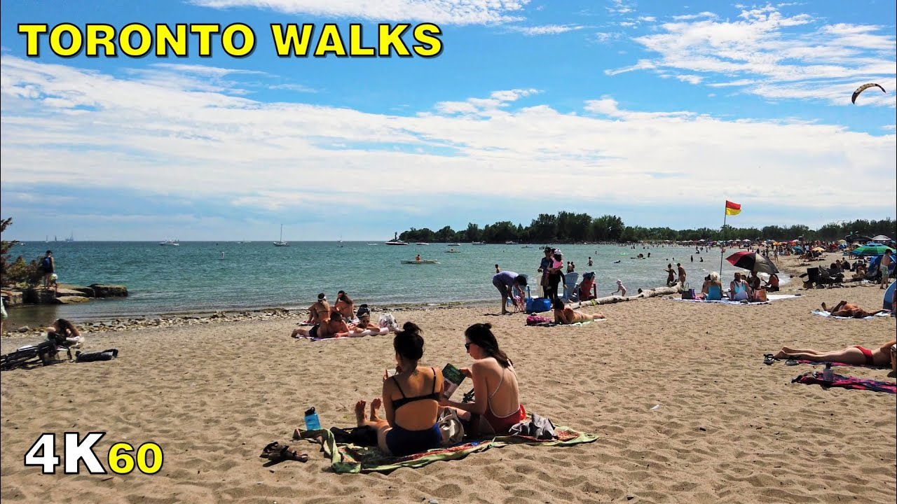 Toronto Beaches Neighbourhood & Boardwalk - Stage 3 Walk on August 1 [4K]