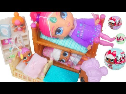 LOL Surprise Dolls + Lil Sisters Sleepover