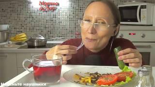 АСМР Жареная картошка с грибами Диета это  пытка едой? Итинг 먹방