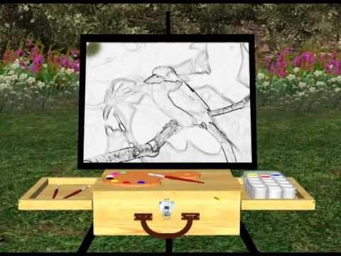 Digital Painting - Buff-Breasted Paradise Kingfisher