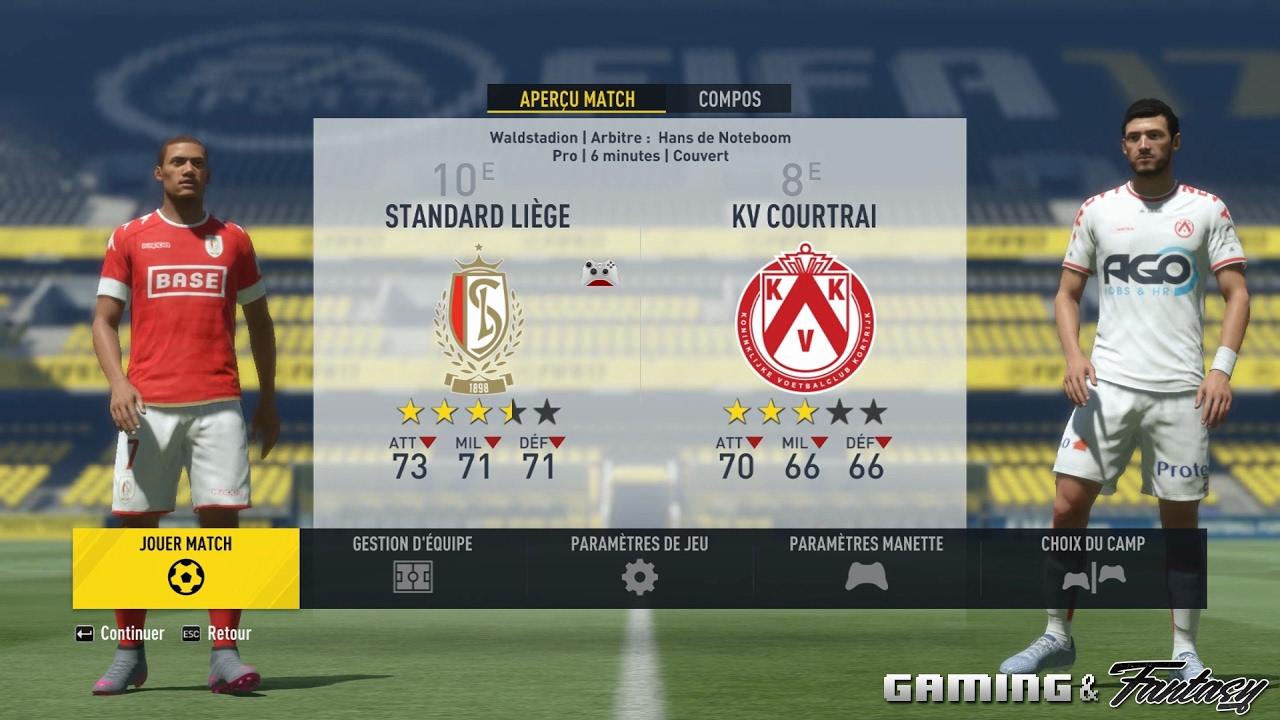 FIFA 17 (PC) : Standard - Courtrai 04/02/2017