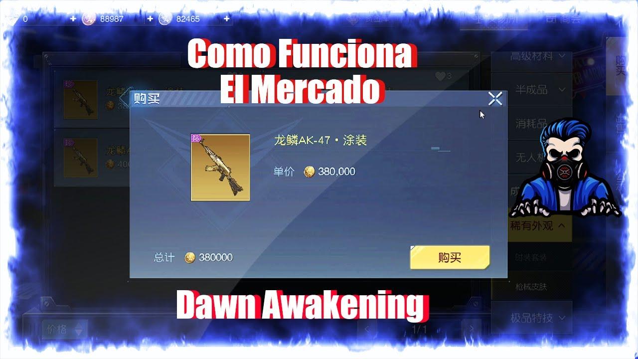 Como funciona el mercado Dawn Awakening (Undawn) Beta Final