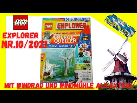 LEGO Explorer Magazin Nr.10/2021 mit Windrad und Windmühle (11952) als Extra | Review+Unboxing