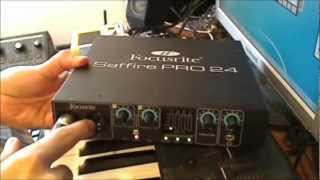 saffire Pro 24 review with latency test