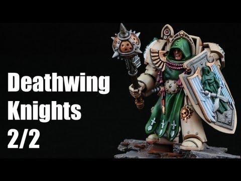 How to paint Deathwing Knights? Dark Angels Warhammer 40k Airbrush Tutorial 2/2