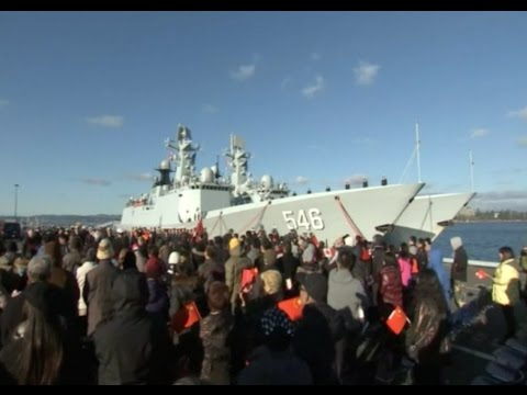 Chinese Naval Fleet Reaches Canada's Victoria Harbor