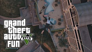 gta 5 online funny moments pool diving sky diving pro and the satellite dish multiplayer