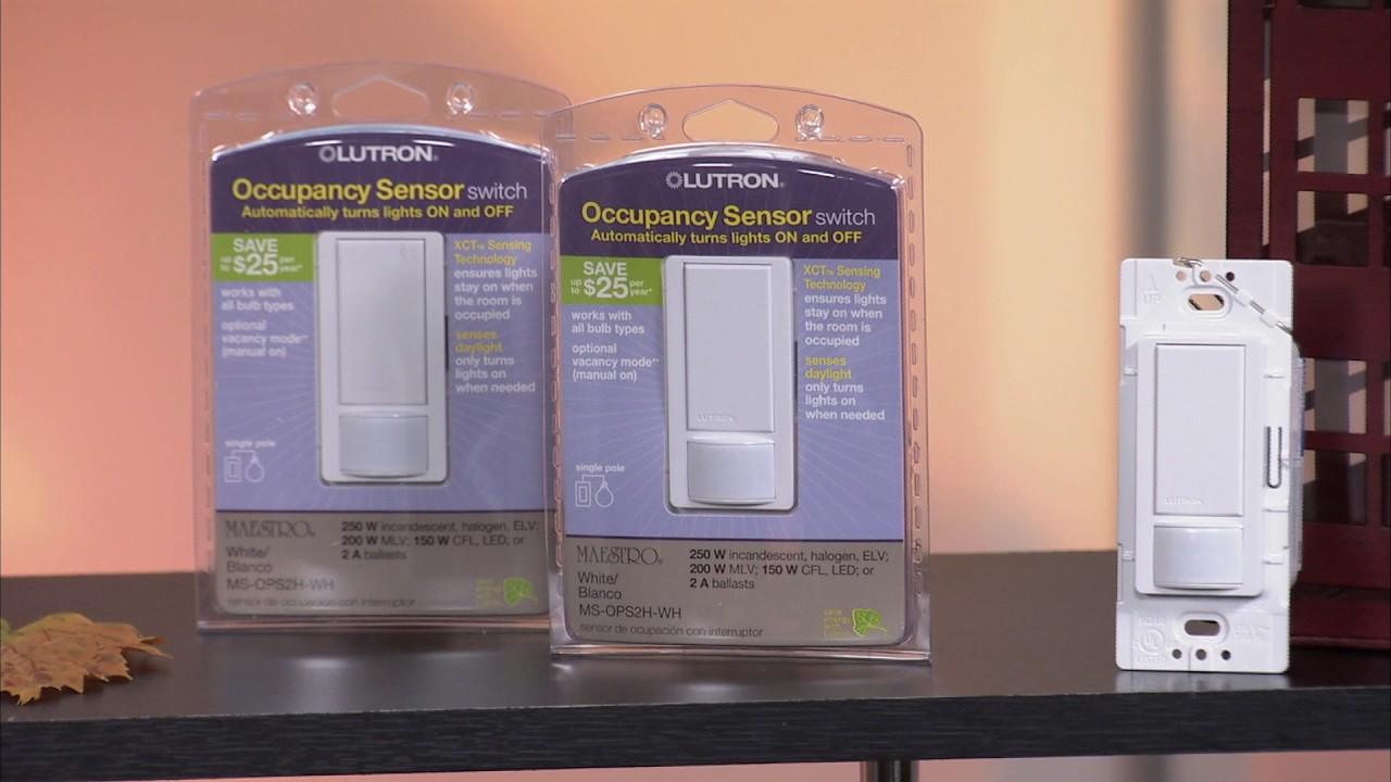 Lutron Maestro Occupancy Sensor Switch Turns Lights On And Off Light Automatically