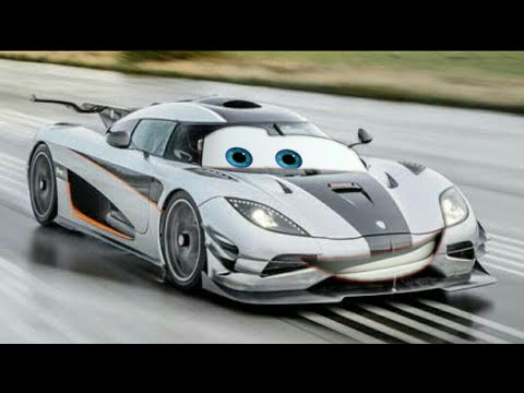 Cars 4 trailer and 1st look # Koenigsegg One:1 car a rival for Lighting McQueen...