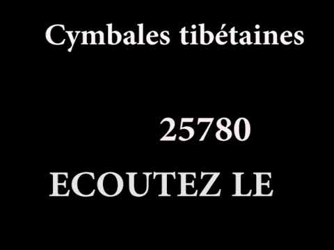 Cymbales tibetaines auspicieux 25780 030118