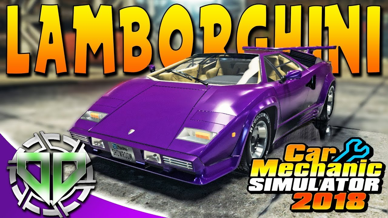 2018 lamborghini countach. modren 2018 car mechanic simulator 2018  lamborghini countach lp5000 pc for lamborghini countach