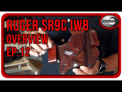 Winthrop Holsters Ruger SR9c IWB Dual Snap Brown Leather