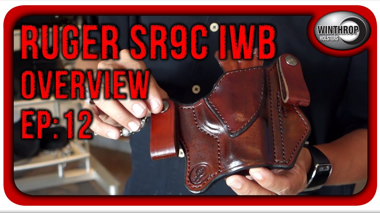 Winthrop Holsters Ruger SR9c IWB Dual Snap Brown Leather Holster Overview