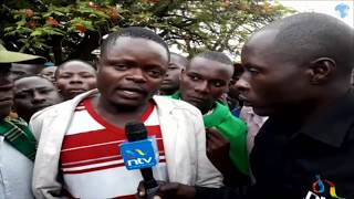A section of Homabay residents express displeasure after Top Court upholds Governor Awiti election